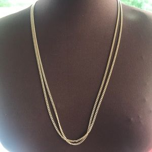 Vintage Sarah coventry gold tone double chain
